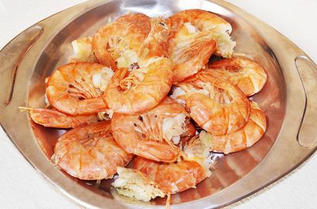 delicious shrimps - traditional greek mediterranean seafood