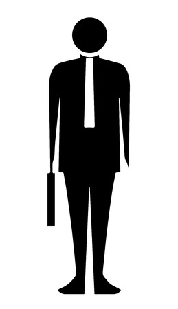 bussinesman: black silhouette bussinesman vector