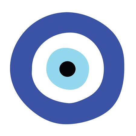 grecki wektor złego oka - symbol ochrony Ilustracje wektorowe