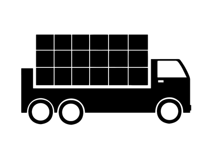 truck with commodities vector