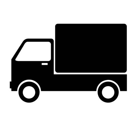 truck with commodities vector - cargo vehicle icon