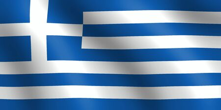 geographical: wavy greek flag illustration
