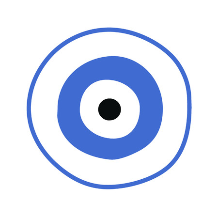 Blue Greek Evil Eye Vector Symbol Of Protection Royalty Free