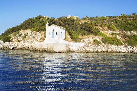ionio: saint Andrew chapel at Ithaca Ionian islands Greece Stock Photo