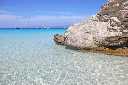 ionio: landscape of Voutoumi beach Antipaxos island Greece