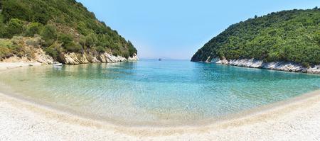 ionio: panoramic landscape of Filiatro beach Ithaca Ionian islands Greece
