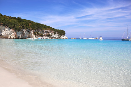 ionio: landscape of Antipaxos beach Ionian islands Greece