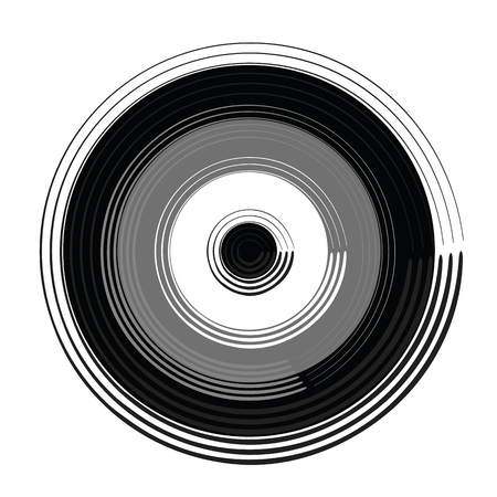 Black and white circle vector illustration
