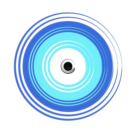 보호 기호 - 흰색 배경에 그리스어 파란색 악마의 눈 벡터
