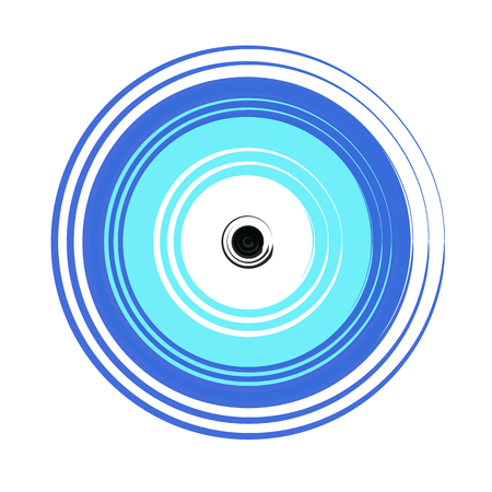 bescherming symbool - Griekse blauwe boze oog vector op witte achtergrond