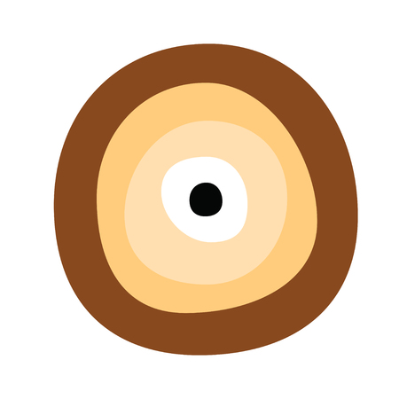 Greek evil eye vector in brown colors symbol of protection