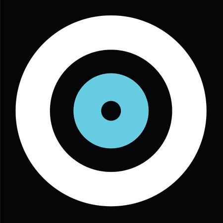 Black evil eye vector, Greek evil eye, symbol of protection. Vettoriali