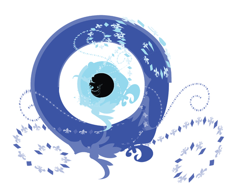 artistic blue evil eye vector - greek evil eye illustration