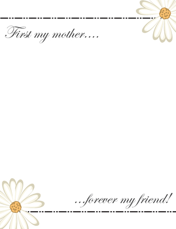 Mother's day card design template 向量圖像