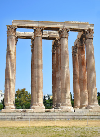 the temple of Olympian Zeus in Athens Greece - greek ancient landmarks