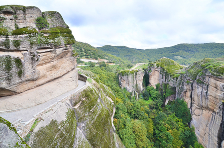 landscape of Meteora Thessaly Greece