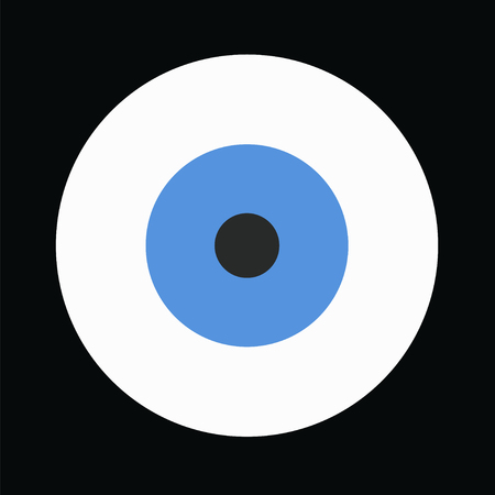 blue evil eye vector on black background