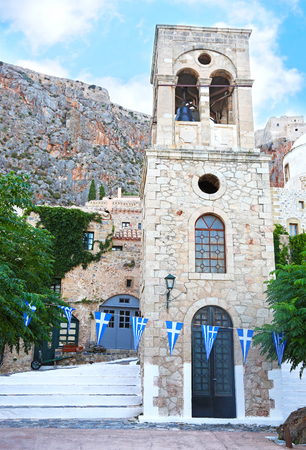 Orthodox church at the castle of Monemvasia Lakonia Peloponnese Greece