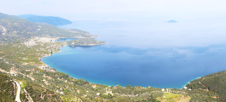 panoramic landscape of Old Epidauros Argolis Greece - Palaia Epidauros - landscape from above