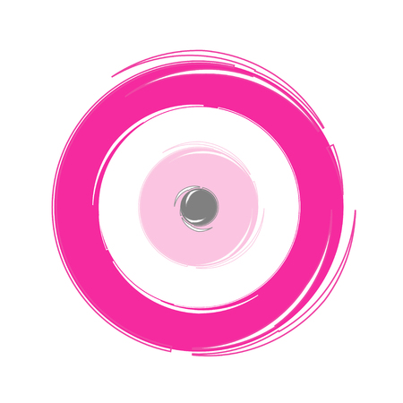 Artistic pink evil eye vector, Greek evil eye illustration.