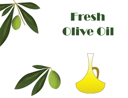 Fresh olive oil vector traditional Greek olive oil advertisement.