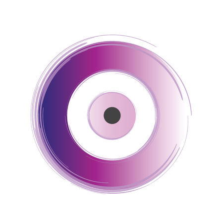 Artistic purple evil eye vector on white background Illustration