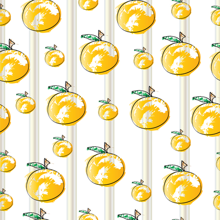 striped pattern with oranges vector 向量圖像