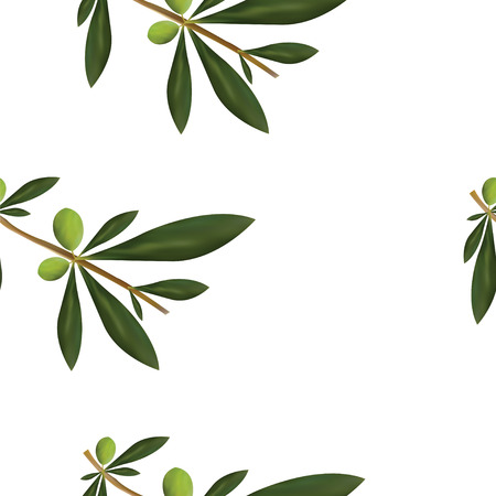 nahtloses Muster mit Olivenbaumvektorillustration Vektorgrafik