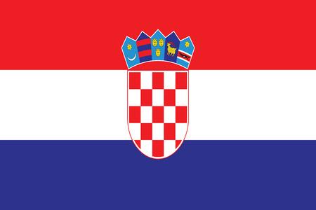 croatian flag illustration - Croatia flag vector - republic of Croatia Illustration