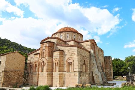 the old Daphni monastery in Athens Greece - religious greek landmarks