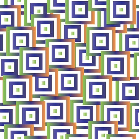 seamless pattern with abstract colorful squares vector - geometrical shapes pattern