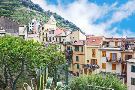 MANAROLA CINQUE TERRE ITALY, JUNE 01 2018: the traditional Manarola village Cinque Terre Italy. Editorial use. Editorial