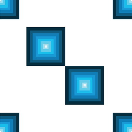 seamless pattern with squares in blue and turquoise colors vector - white background