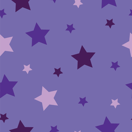 seamless pattern with stars vector with purple background - star theme pattern