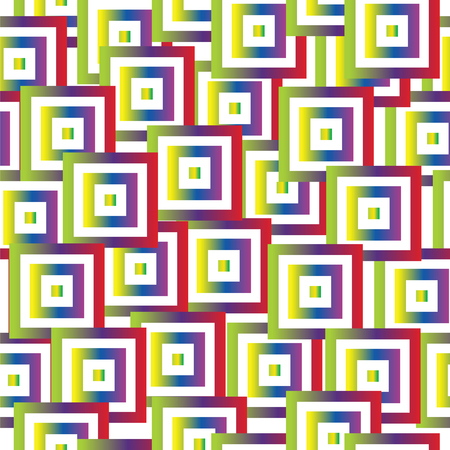 seamless pattern with abstract colorful squares vector - geometrical shapes pattern Ilustrace