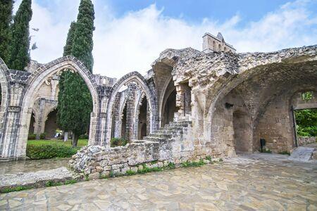 Kyrenia Cyprus, November 27 2016: Bellapais Abbey in Northern Cyprus - Bellapais monastery - Cyprus landmarks. Editorial use. Editorial