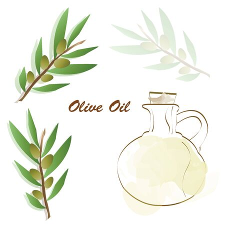 olive oil advertisement - olive tree vector - bottle with olive oil vector