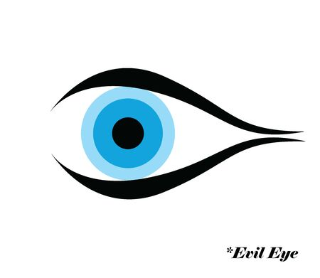 evil eye vector illustration with evil eye  - greek and turkish symbol of protection
