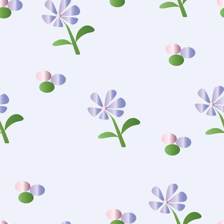 seamless pattern with purple daisy flowers vector - floral pattern