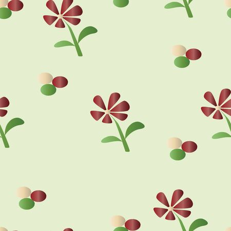 seamless pattern with dark red daisy flowers vector - floral pattern
