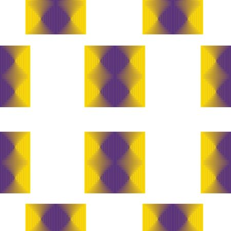 seamless pattern with purple and yellow squares vector
