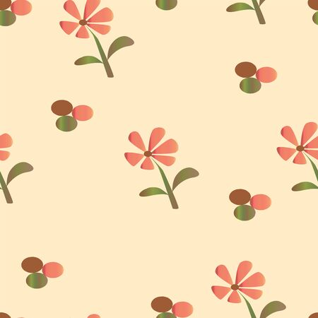 seamless floral pattern with daisy flowers vector