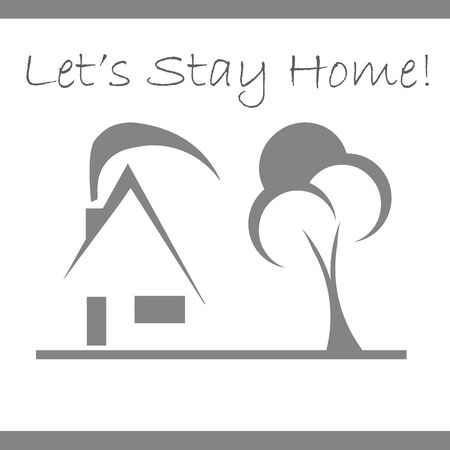 lets stay home icon vector - get protected from coronavirus, covid 19