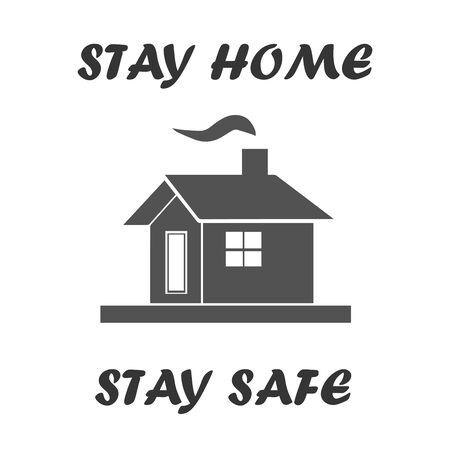 Bleiben Sie zu Hause - bleiben Sie sicher Symbolvektor - schützen Sie sich vor Viren
