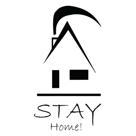 stay home icon vector - coronavirus protection