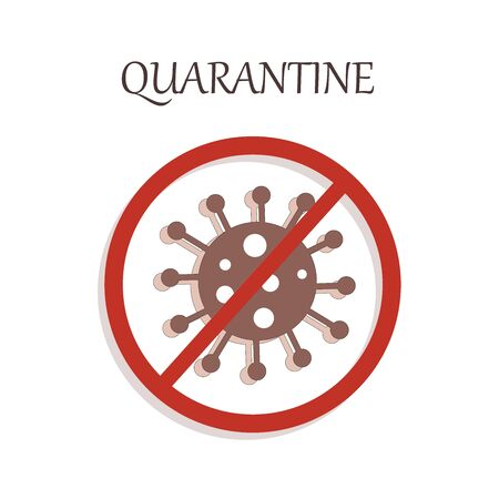 stop virus icon - quarantine vector