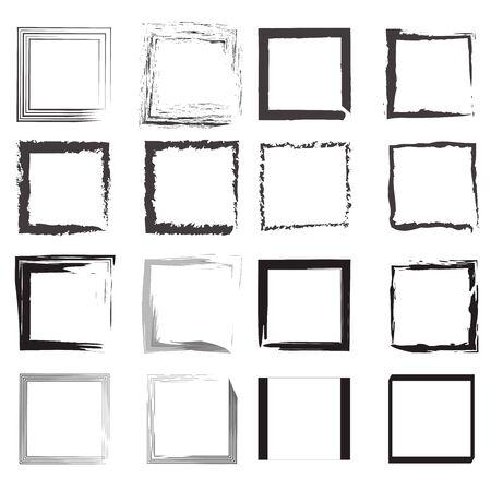 black and white borders vector set in multiple shapes Vektoros illusztráció