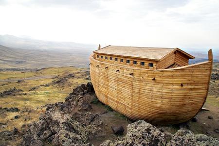 biblical: Noahs Ark model                Stock Photo