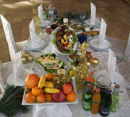armenian: Armenian traditional table with Sturgeon