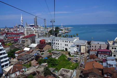 view from Batumi ropeway, Ajara, Georgia